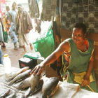 Policies that improve access to ICTs should benefit Zambia's rural populations, such as female market traders.   Flickr/The WorldFish Center