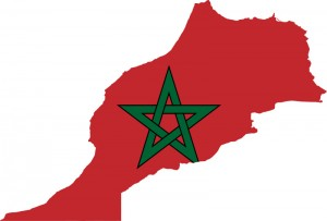 Moroccan flag and territory