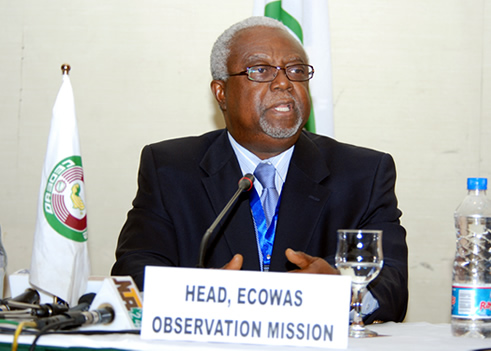 Head of ECOWAS Election Observation Mission, Prof. Amos Sawyer