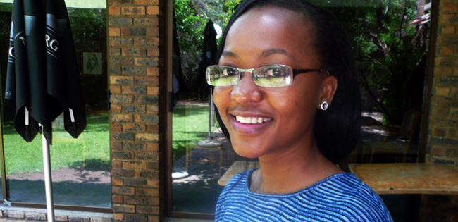 Pelly Malebe, a PhD student at the University of Pretoria