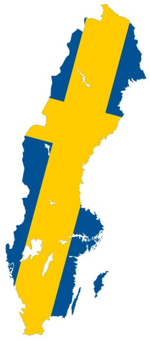 Sweden flag map copy