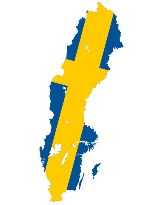 Sweden Flag Map AfricanBrains - Sweden map jpg