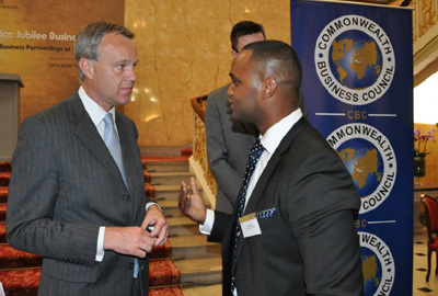 Hassan Dudde MD of the Somali Economic Forum with British Minister for Africa Mark Simmonds