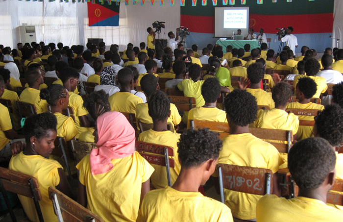 Eritrea. Youth working in politics attend a seminar on IHL and the ICRC at the Sawa Vocational Training Centre. CC BY-NC-ND/ICRC/Tesfai Zecarias