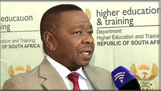 Higher Education and Training Minister Blade Nzimande