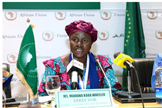 Mrs. Mahawa Kaba Wheeler addressed the press on activities and theme on Women's Rights