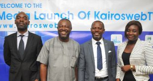 From Left: Mr. Ejiro Eghagha, Managing Partner Mercury West Africa, Mr Onoriode Akpe, Chief Executive Officer of Red Sappire Limited, Mr. Celestine Achi, the CEO of Cihan Group and the founder of KairosWebTV and Ms. Ruth Opakunle, Head Marketing of Cihan Group