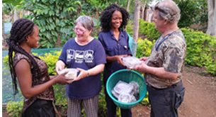 Dr. Sandra and Douglass Williams of Lost Creek Mushroom Farm teach selling techniques to Ghanaian mushroom growers