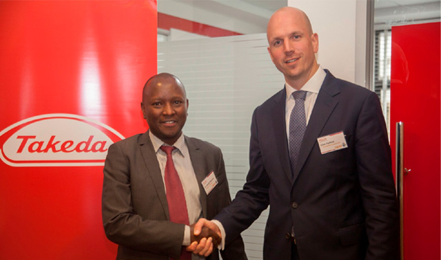 Giles Platford, president, Emerging Markets, Takeda (right) and Dr. Kibachio Joseph Mwangi (left), Head: Division of Non-Communicable Diseases, Ministry of Health, at the launch of Takeda's bold, new Access to Medicines strategy