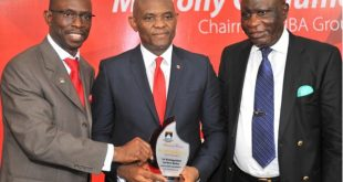 LASU V.C,Prof. Fagbohun, Elumelu and Chancellor, Justice Oguntade African business leader and philanthropist, Tony Elumelu has stated that the time for leadership amongst Nigerian and African Youth is now.  Elumelu, who addressed the students of the Lagos State University, LASU, faculty members and officials of the Lagos State government, whilst delivering the institution's 1st Distinguished Lecture Series in Ojo, Lagos, spoke on the topics of leadership and entrepreneurship.  According to Elumelu, leadership is demonstrated at all levels of an institution and he gave short thrift to the idea that not