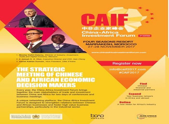 Marrakech To Hold 2nd China Africa Investment Forum